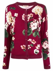 Twin-Set floral cardigan - Red