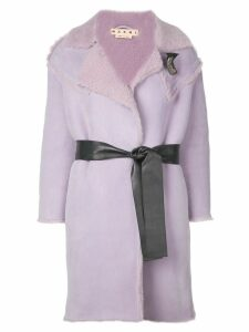 Marni shearling duffle coat - Purple