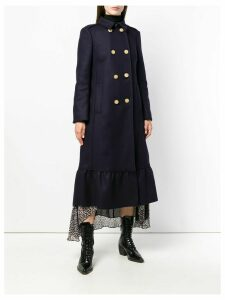 Red Valentino double-breasted flared coat - Blue
