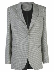 Petar Petrov houndstooth single breasted blazer - Black