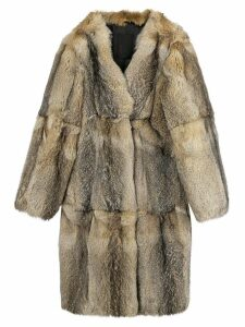Liska mid-length fur coat - Neutrals