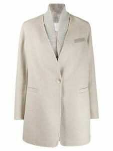 Fabiana Filippi contrast collar coat - NEUTRALS