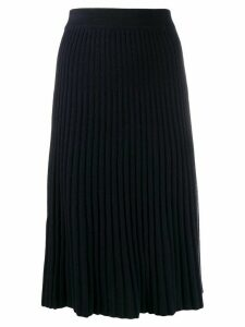 N.Peal ribbed cashmere skirt - Blue