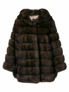 Liska loose fitted jacket - Brown