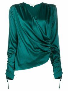 Jonathan Simkhai wrap silk blouse - Green