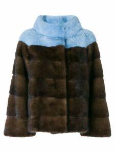 Liska fur detail coat - Multicolour