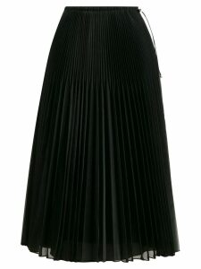 Fendi pleated organza skirt - Black