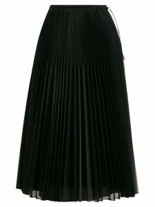 Fendi pleated organza skirt - Black