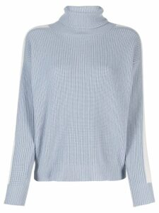 Peserico contrast side panel jumper - Blue