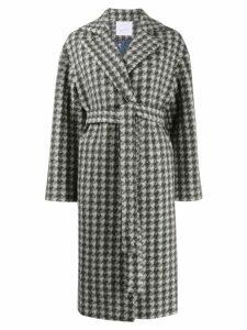 Giada Benincasa houndstooth belted coat - Grey