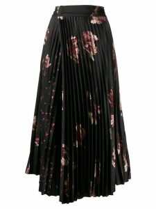 Vince pleated midi skirt - Black