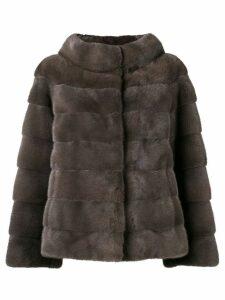 Liska longsleeved front fastened jacket - Grey