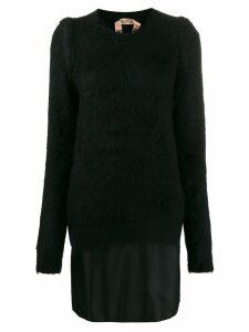 Nº21 contrast short dress - Black