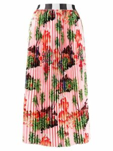 Stella Jean pleated midi skirt - Pink