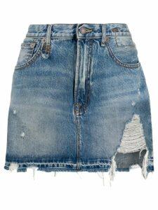 R13 denim mini skirt - Blue