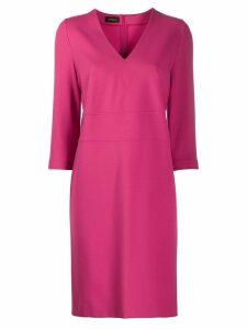 Les Copains v-neck midi dress - Pink