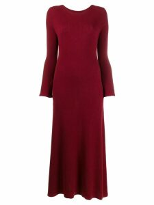 N.Peal ribbed cashmere midi dress - Red