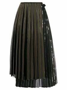 Fendi pleated wrap skirt - Black