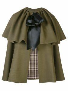 Adam Lippes bow fastening cape - Green