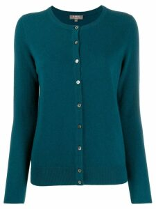 N.Peal round neck cashmere cardigan - Blue