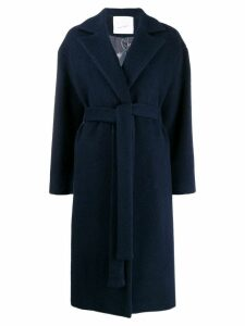 Giada Benincasa belted knee-length coat - Blue