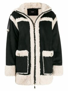 Twin-Set faux shearling coat - Black