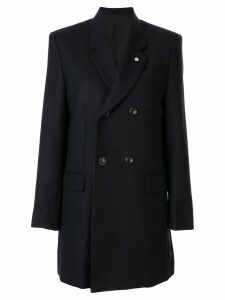 Toga fitted double-breasted blazer - Black