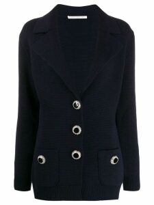 Alessandra Rich knitted blazer jacket - Blue