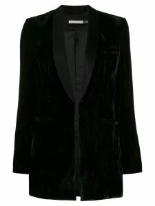 Alice+Olivia velvet tuxedo blazer - Black