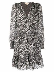Michael Michael Kors animal print ruffled dress - Grey