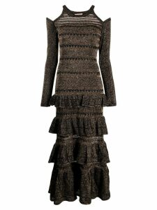 Twin-Set knitted lurex dress - Black