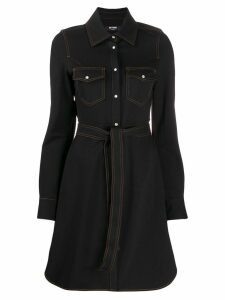 Twin-Set belted shirt dress - Black