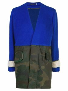 Harvey Faircloth colour blocked coat - Blue