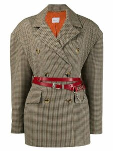 Magda Butrym plaid belted coat - Brown