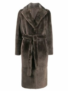 Desa 1972 soft fur coat - Grey