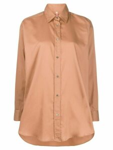 Indress oversized long-sleeved shirt - Neutrals