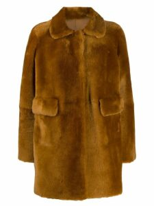 Desa 1972 double-faced fur coat - Brown