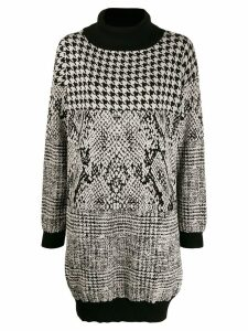 Twin-Set intarsia jumper dress - Black