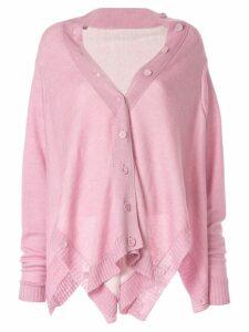 Taylor Corner cardi-coat - Pink