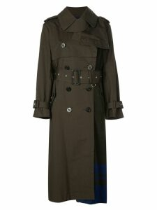 Sacai belted trench coat - Green