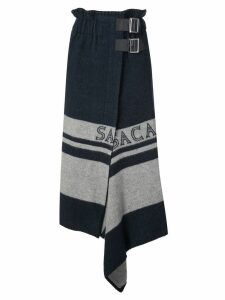 Sacai double buckle skirt - Blue