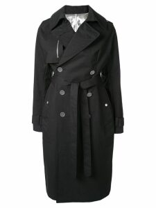 Unravel Project belted trench coat - Black