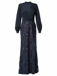 Tadashi Shoji embroidered Elm dress - Blue