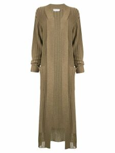 Sonia Rykiel rib-knit cardi-coat - Green
