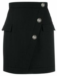Balmain buttoned short skirt - Black