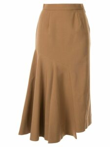 Le Ciel Bleu asymmetric flare skirt - Brown
