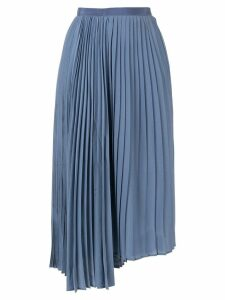 Le Ciel Bleu Georgette pleated skirt - Blue