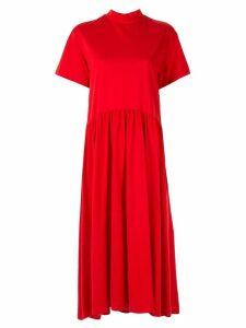 Le Ciel Bleu jersey volume dress - Red