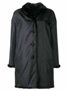 Aspesi mid-length raincoat - Black