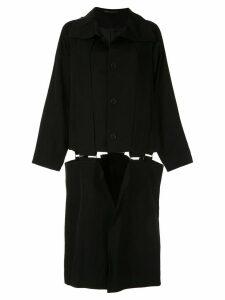 Yohji Yamamoto suspender midi coat - Black